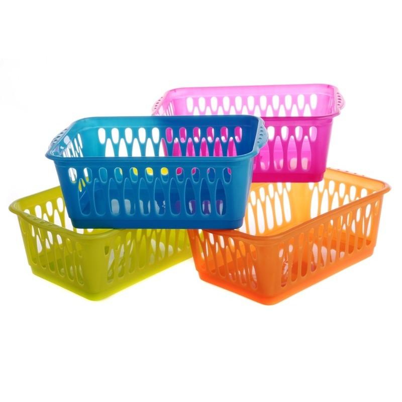 Košík plastový multicolor