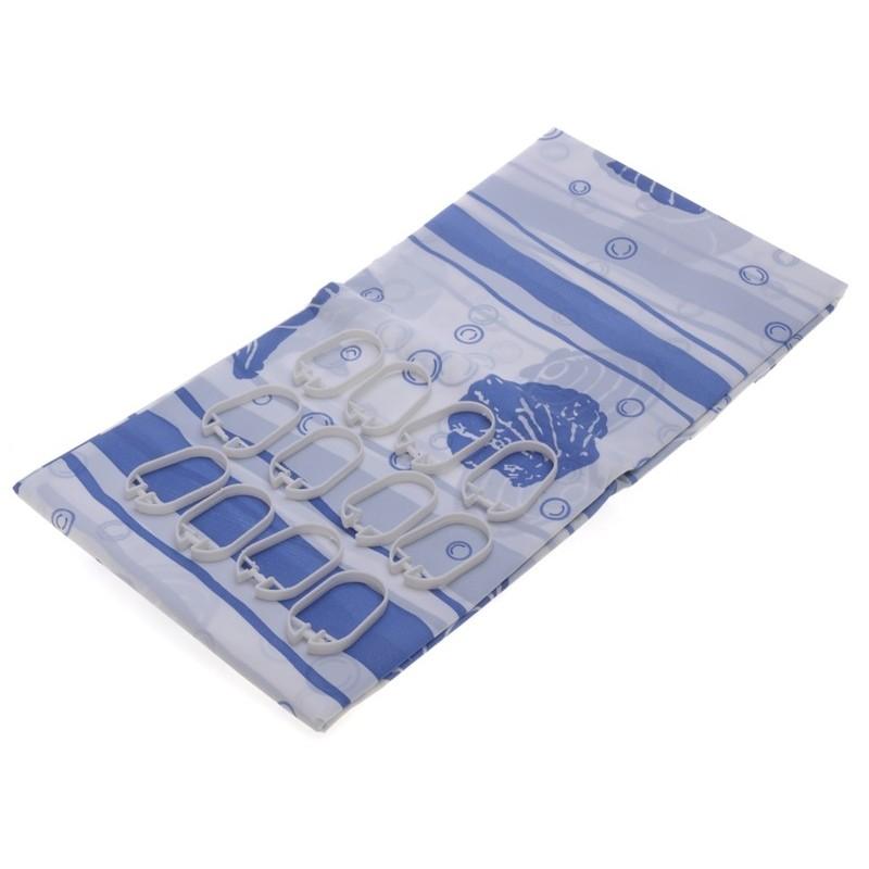 Koupelnový závěs 180x180cm Modrá mušle