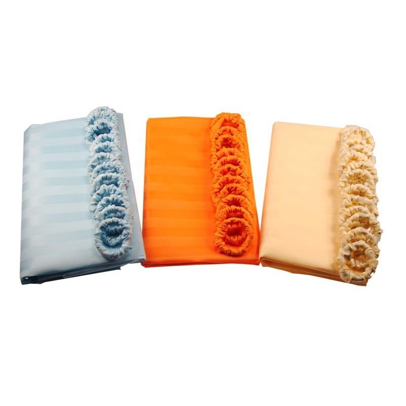 Elmich Home Koupelnový závěs 180x180cm modrá, oranžová, béžová
