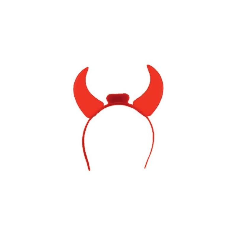 Čertovské rohy čelenka svítící červené