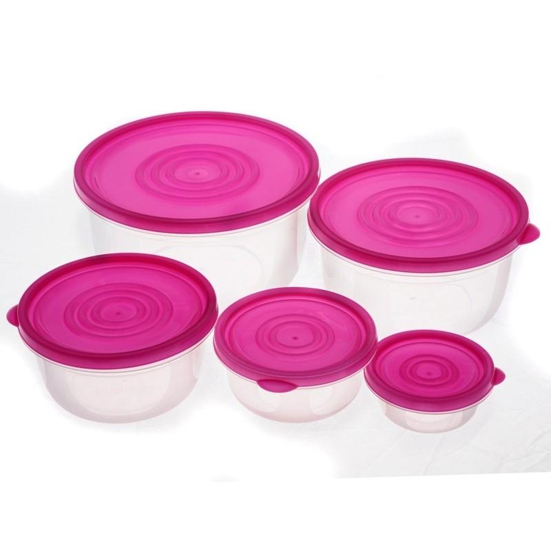 Smart Cook Plastová dóza 5ks růžová