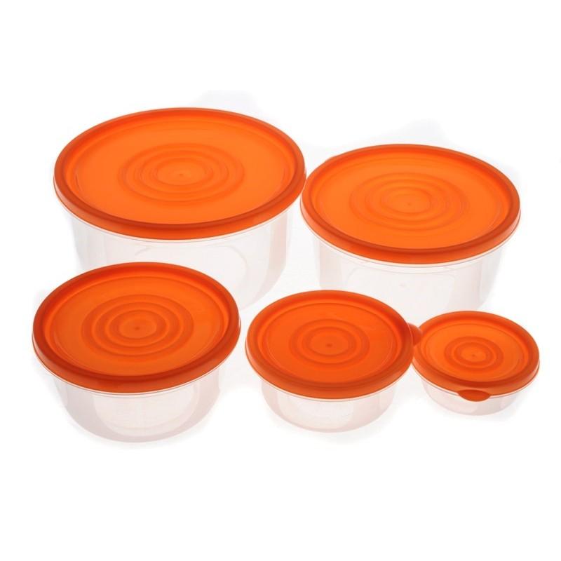 Smart Cook Plastová dóza 5ks oranžová
