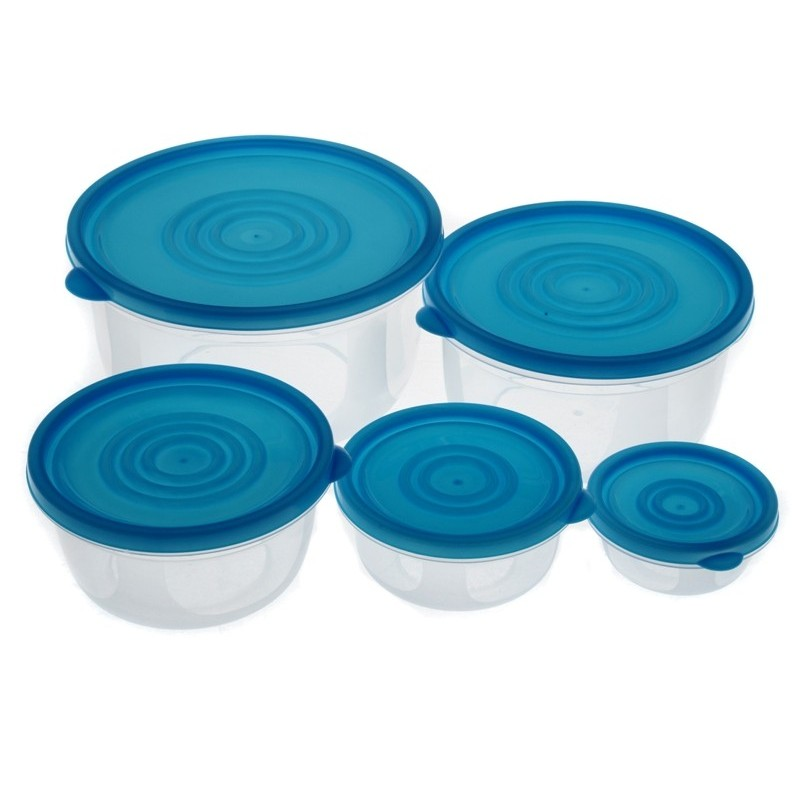 Smart Cook Plastová dóza 5ks modrá