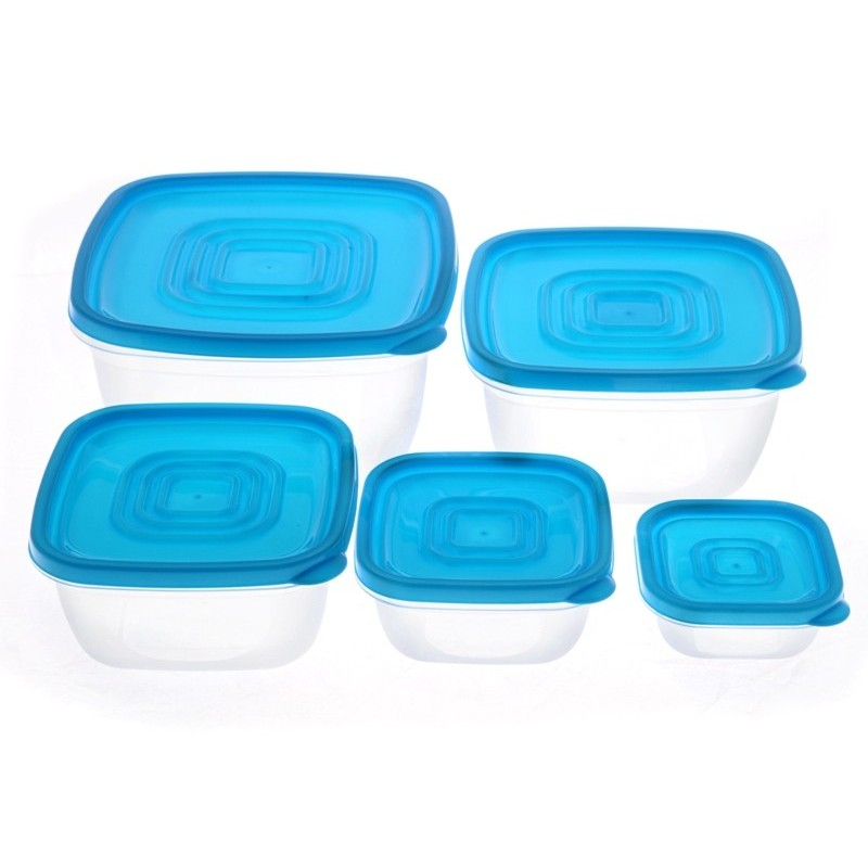 Smart Cook Plastová dóza hranatá modrá