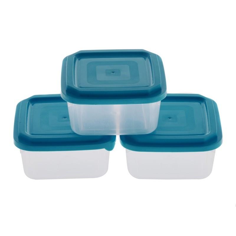 Smart Cook Plastová dóza 3ks čtverec modrá