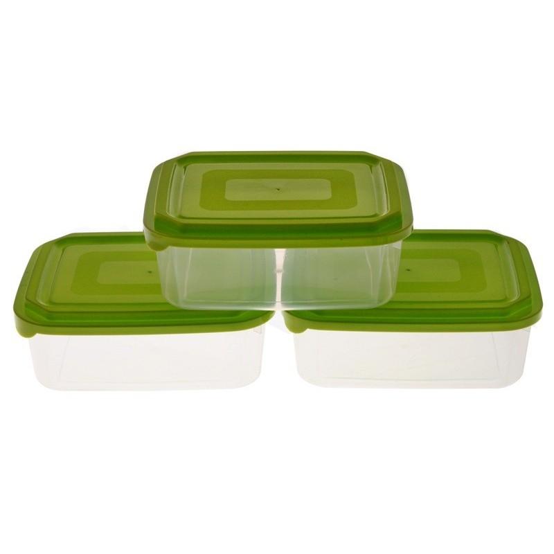 Smart Cook Plastová dóza 3ks obdelník zelená