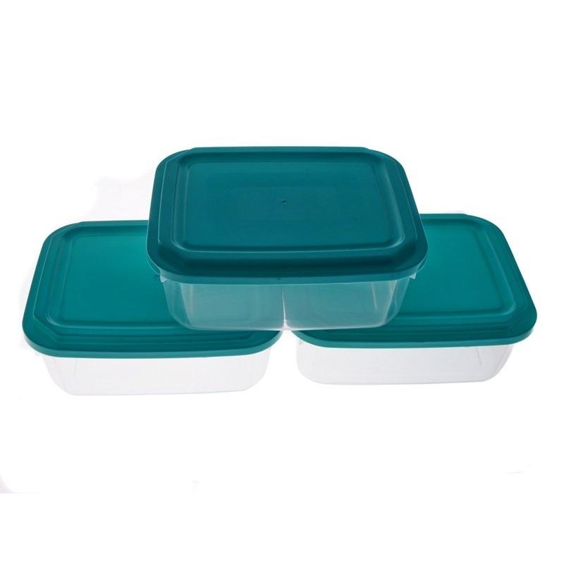 Smart Cook Plastová dóza 3ks obdelník modrá