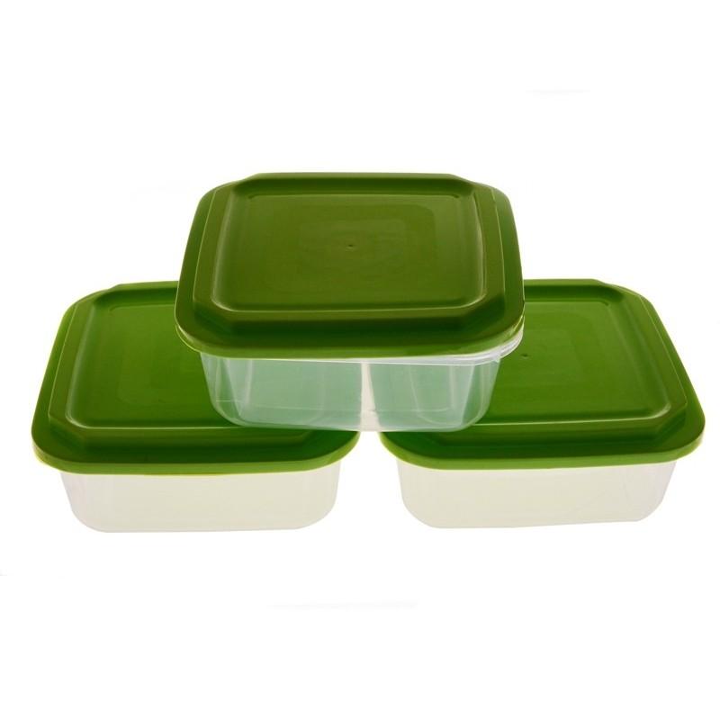 Smart Cook Plastová dóza 3ks 16x16cm zelená