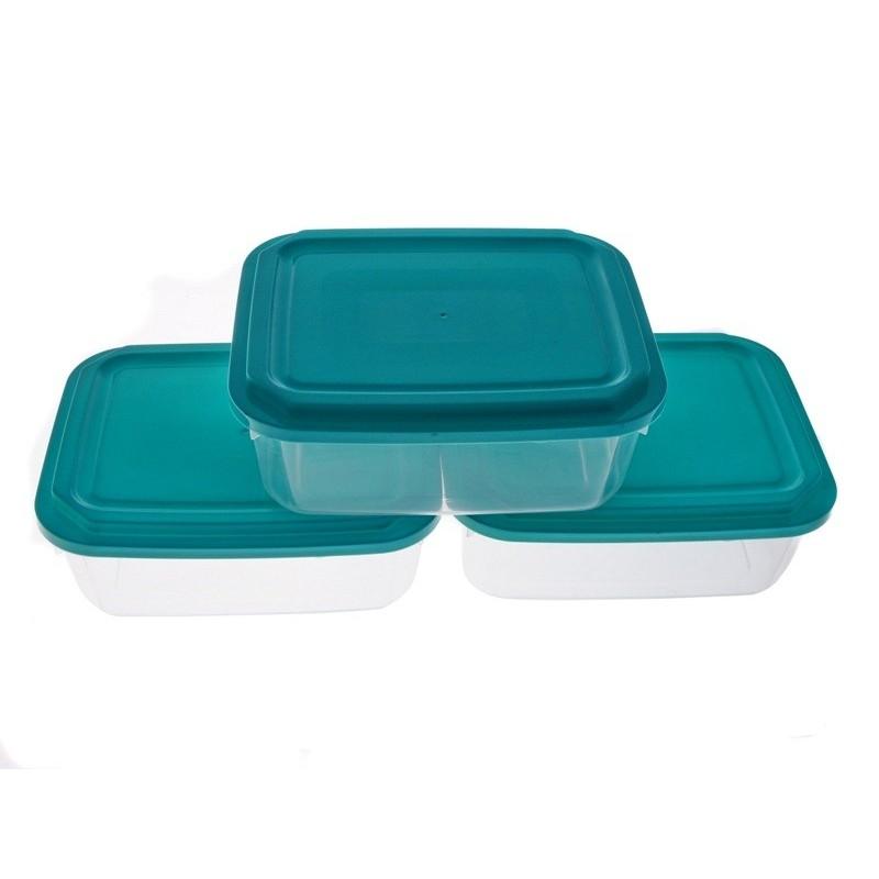 Smart Cook Plastová dóza 3ks 14x18cm modrá