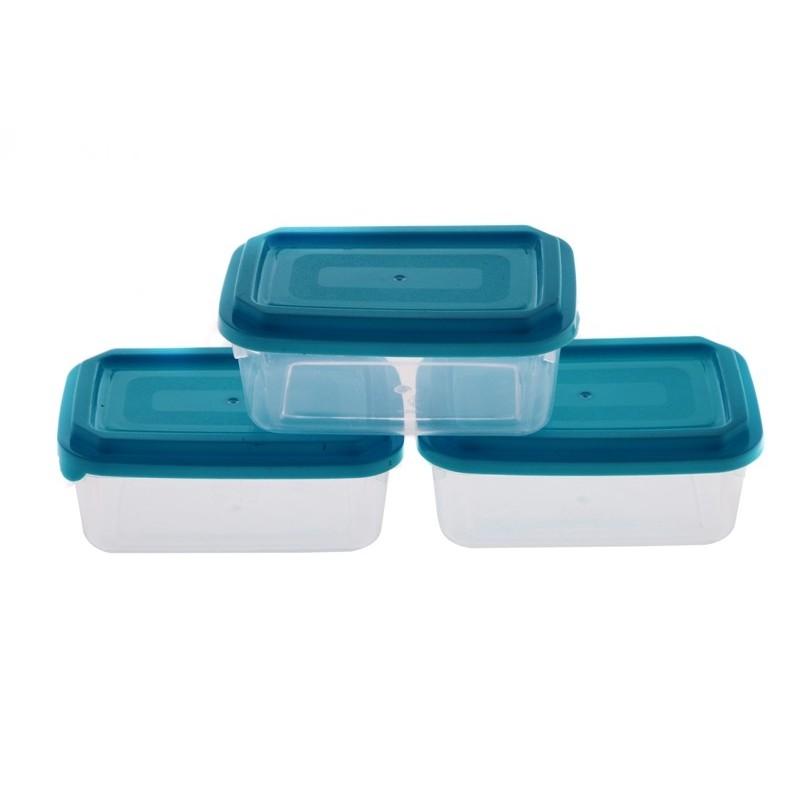 Smart Cook Plastová dóza 3ks 7x11cm modrá