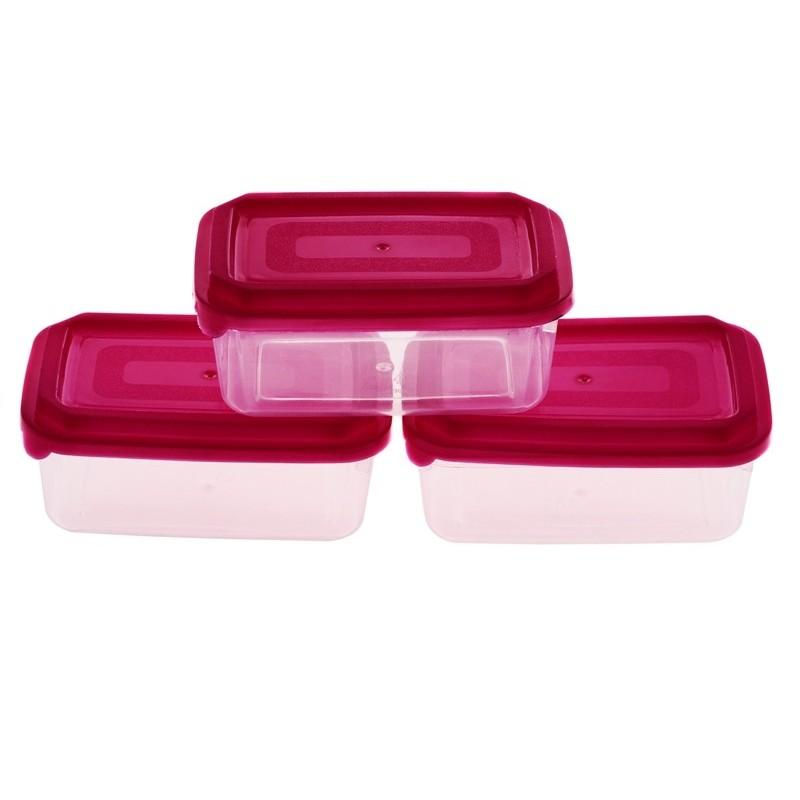 Smart Cook Plastová dóza 3ks 7x11cm červená