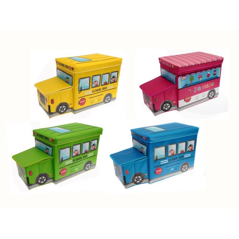Unihouse Dětský skládací taburet Autobus