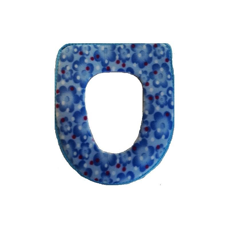 Potah na wc prkénko -modrá květina