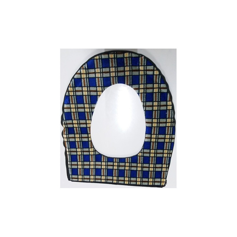 Potah na wc prkénko - modrý čtverec