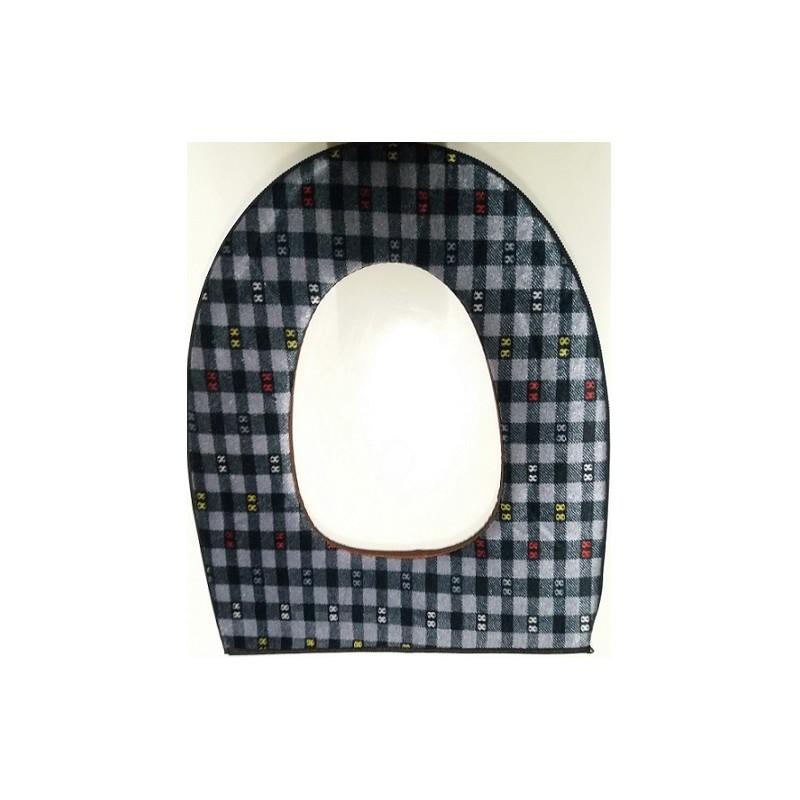 Potah na wc prkénko - šedý