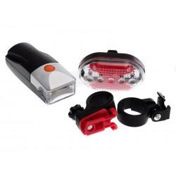 Unihouse Světlo na kolo přední 6 LED a zadní 5 LED 2 ks