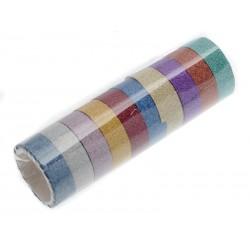 Unihouse Lepící páska dekorační 1,5 cm x 2 m 10 ks mix