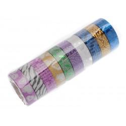 Unihouse Lepící páska dekorační 1,5 cm x 5 m 10 ks mix