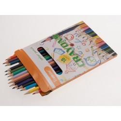 Teamstar Pastelky Crayons 17 cm 18 ks