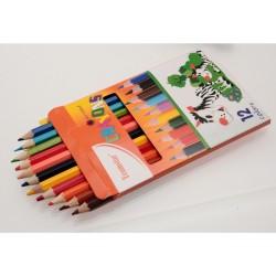Teamstar Pastelky Crayons 17 cm 12 ks