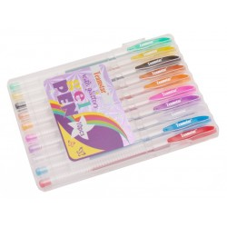 Teamstar Pero gelové 15,5 cm 10 ks mix barev