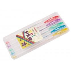 Teamstar Pero gelové 15,5 cm 6 ks mix barev