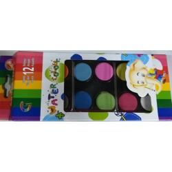 Teamstar Vodové barvy 12 barev