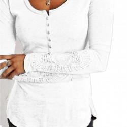Tričko s krajkovými rukávy vel M - bílá