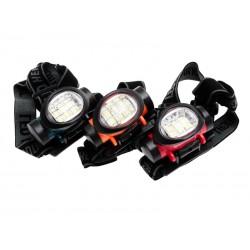 Unihouse Čelová svítilna 6 LED 4 x 5 x 7,5 cm červená , oranžová , černá