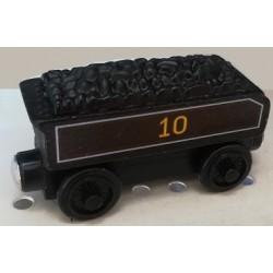 Mašinka Tomáš - vagón černý s uhlím