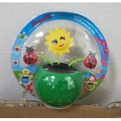 Solární květina s kývací hlavou - sluníčko a berušky