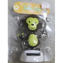 Solární opička s kývací hlavou - hnědá