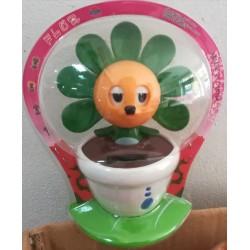 Solární květina mrkající s kývací hlavou - zelená