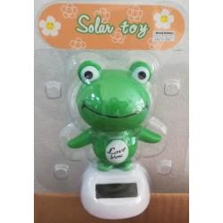 Solární žába kývající se - zelená