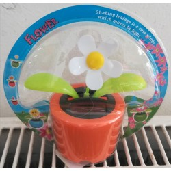 Solární květina s kývací hlavou - bílá