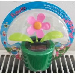 Solární květina s kývací hlavou - růžová