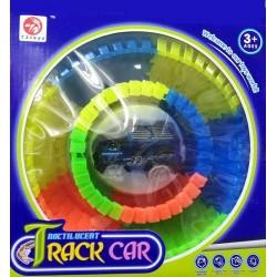 KIK Svítící autodráha Track Car s autíčkem 60 dílků