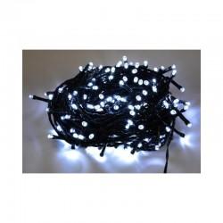 100 LED řetěz 13 m IP44, vánoční osvětlení s adaptérem, venkovní i vnitřní použití, bílá