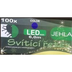 Vánoční osvětlení JEHLA 140 LED do interiéru 6 m - bílá