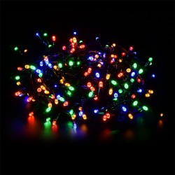 Vánoční svíticí řetěz s 50 LED diodami, venkovní, s adaptérem 9 m