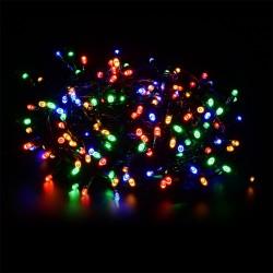 140 LED řetěz 11 m IP44, vánoční osvětlení s adaptérem, venkovní i vnitřní použití, barevné