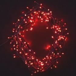 Venkovní i vnitřní vánoční řetěz 140 LED, 16 m - červená
