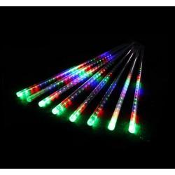 Vánoční dekorativní osvětlení, led rampouchy - vodopádový efekt - barevné 8x30cm