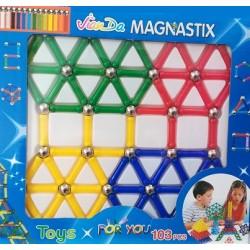 Magnetická stavebnice Magnastix 103 dílů