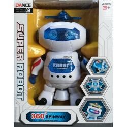 Super robot 09 - tančící, bílý