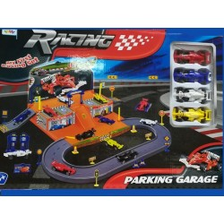 Parkovací garáž RACING - my first racing set + 4 formule