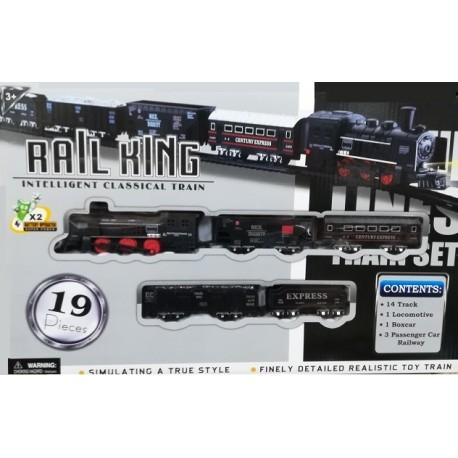 Vlak osobní plastový vláček Rail King