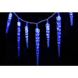 Vánoční dekorativní osvětlení, led rampouchy - 8 x 30 cm modré