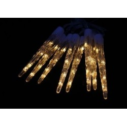 Vánoční dekorativní osvětlení, led rampouchy - 8 x 30 cm teplá bílá