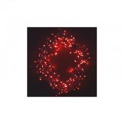 Vánoční osvětlení venkovní 300 LED, 30m, 8 funkcí, IP44 červená